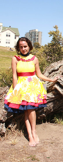 "Tiered Midriff Dress ""Mi Tiempo En Medellín"""