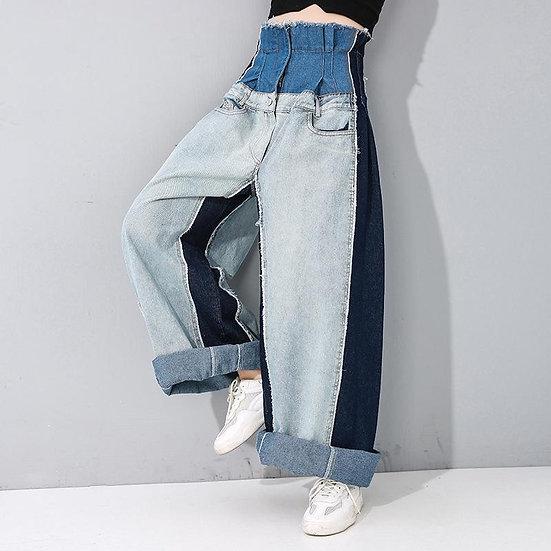 Maaya High Waist Denim Wide Leg Pants