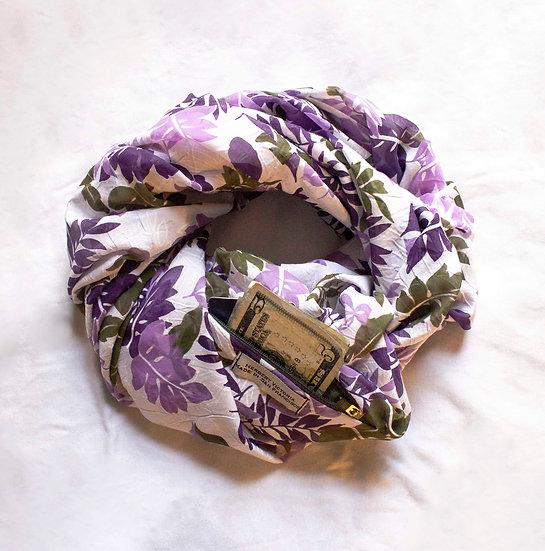 "Floral Print ""Twist"" Infinity /w Pocket"