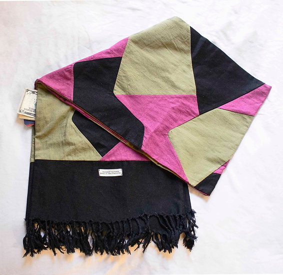 Wide Patch Over-Neck Scarf /w Pocket