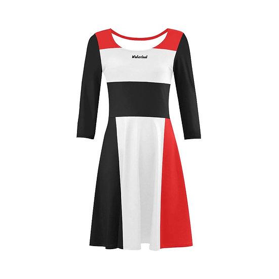 Wakerlook Classic Sleeve Dress