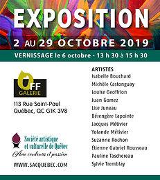 Exposition Off Galerie: 2 au 29 octobre 2019