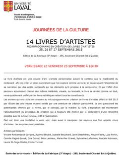 2015-09 Expo 14 livres d artistes