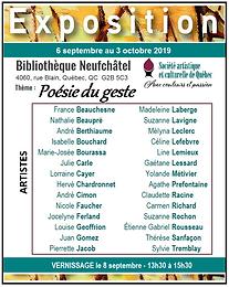 Exposition Bibliothèque de Neufchâtel : 6 septembre au 3 octobre 2019