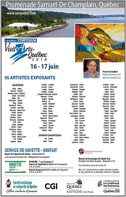 Visit'Arts Québec: 16 et 17 juin 2018