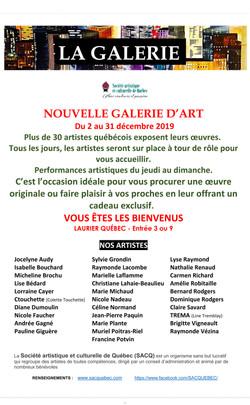 AFFICHE 2019 LA GALERIE