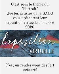 Exposition virtuel SACQ : Le Portrait - octobre 2020