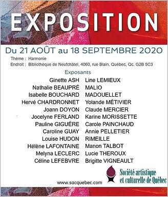 Exposition bibliothèque de Neufchâtel: 21 août au 18 septembre 2020