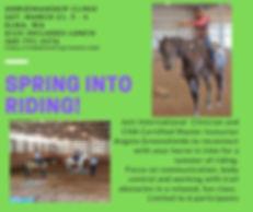 Horsemanship Clinic March 21, 9 - 4 Elma