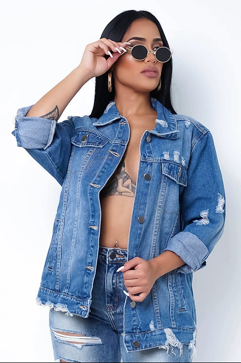 Chains Out Denim Jacket