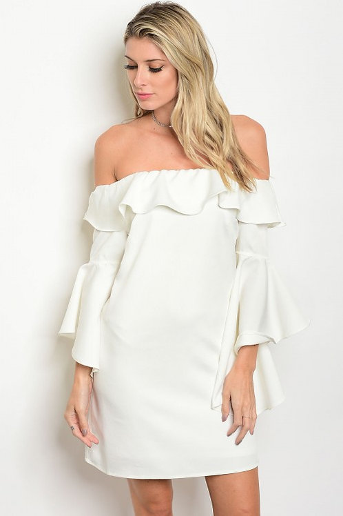 Pearl Ruffle Dress