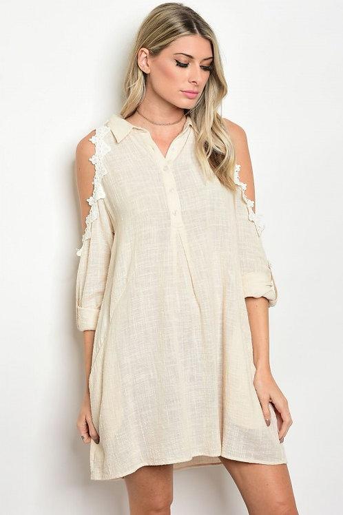 Vanilla Lace Skater Dress
