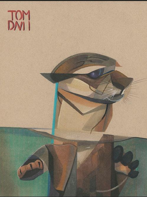 Aquarium Study: Lonely Otter
