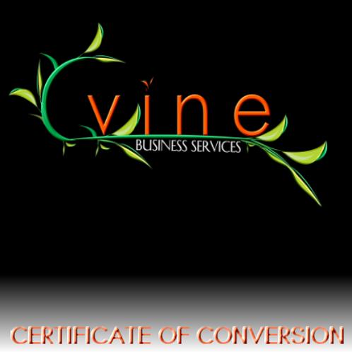 Certificate of Conversion