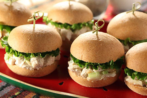 Chicken Salad Yeast Roll Sliders