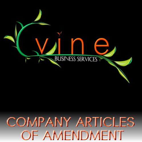 Company Articles of Amendment