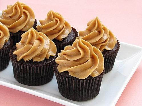 Verglo's Signature Peanut Butter Chocolate Cupcake