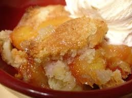 Peach Cobbler & Ice Cream