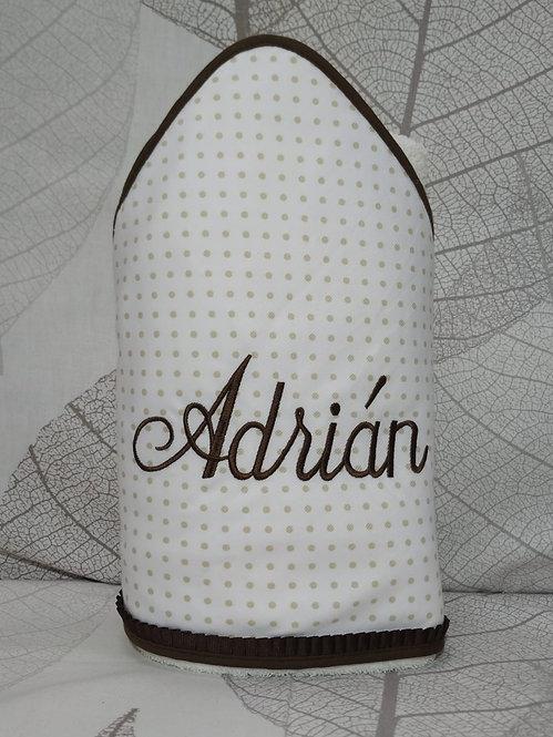Toalla-capa de baño bebé bordada y personalizada- TOPITOS CAMEL