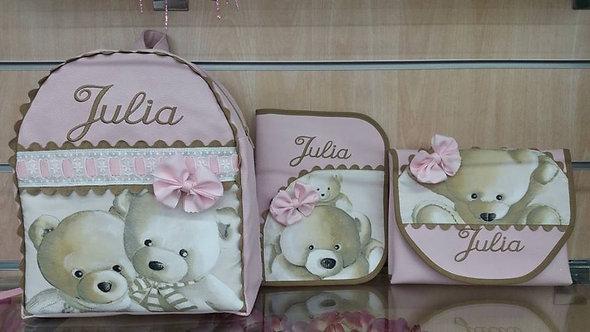 Mochila  bebé + Cambiador bebé + Porta toallitas+pañales-MODELO JULIA