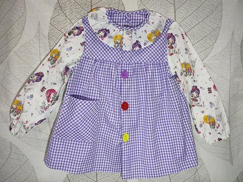 Bata escolar infantil (Babi) personalizada con nombre- MUÑECAS MALVA 1