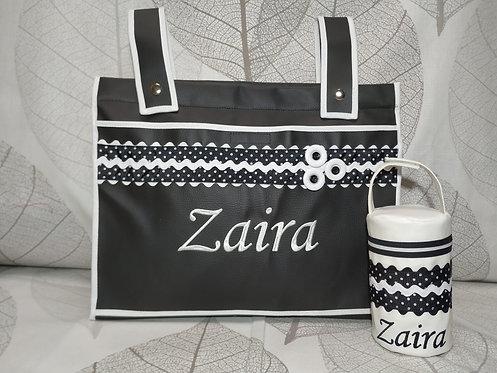 Bolso panera  + portachupetes -MODELO ZAIRA