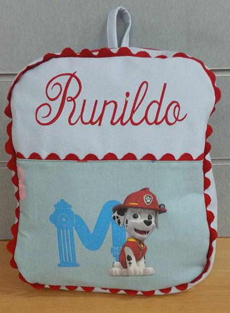 Mochila infantil personalizada Patrulla Canina-RUNILDO
