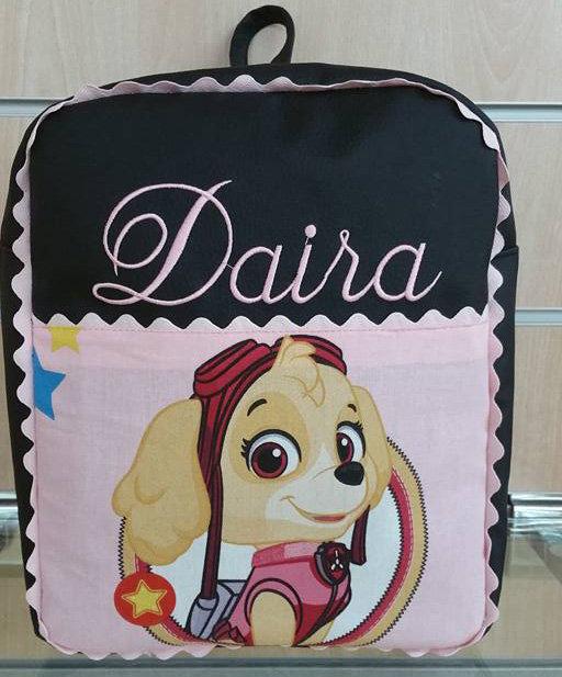 Mochila infantil personalizada patrulla canina Skye-MODELO DAIRA