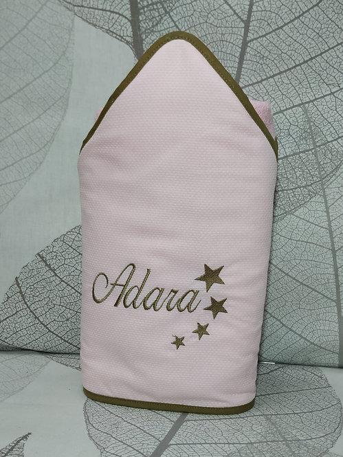 Capa para el baño del bebé (toalla-capa) personalizada -MODELO ADARA STAR