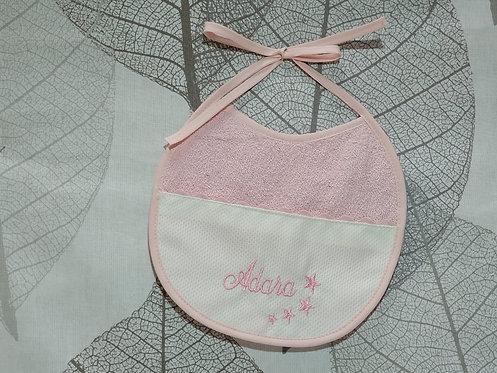Babero para bebé bordado hecho a mano- MODELO ADARA