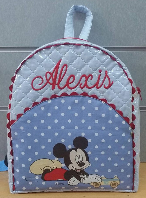 Mochila infantil personalizada Mickey Mouse-MODELO ALEXIS