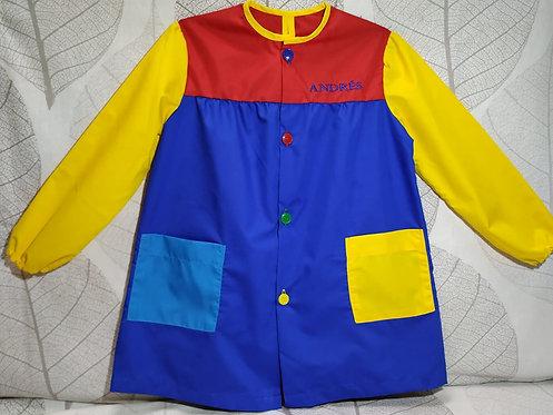 Babi (bata escolar) infantil  personalizada con nombre- COLORES