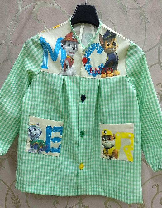 Babi infantil niño personalizado para colegio -MOD. PATRULLA LETRAS