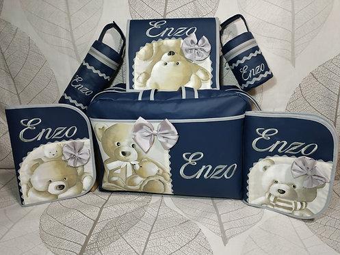 Conjunto-set bebé personalizado polipiel marino + osos-ENZO