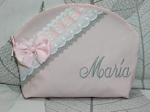 Neceser bebé personalizado- Bolsa neceser multiusos bebé- MODELO MARÍA