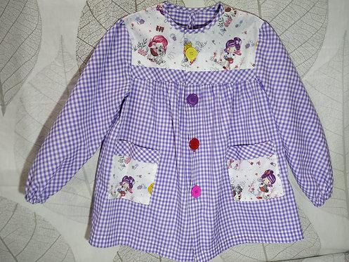 Bata escolar infantil (Babi) personalizada con nombre- MUÑECAS MALVA 2