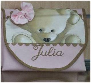 Cambiador Portátil plegable de Bolso Personalizado para bebé-MODELO JULIA