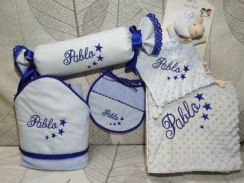 Canastilla regalo para bebé personalizada- MODELO PABLO