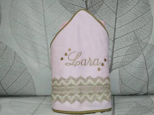 Capa para el baño del bebé (toalla-capa) personalizada -MODELO LARA
