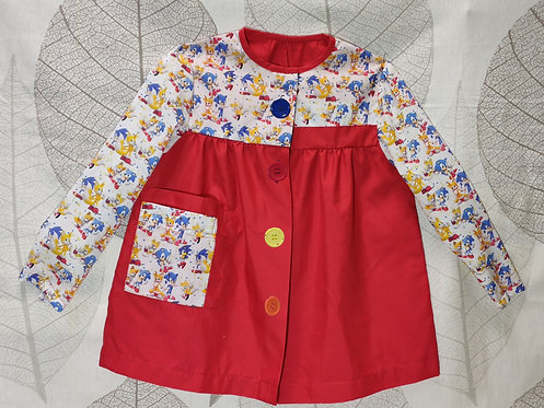 Babi (bata escolar) infantil  personalizado con nombre-SONIC