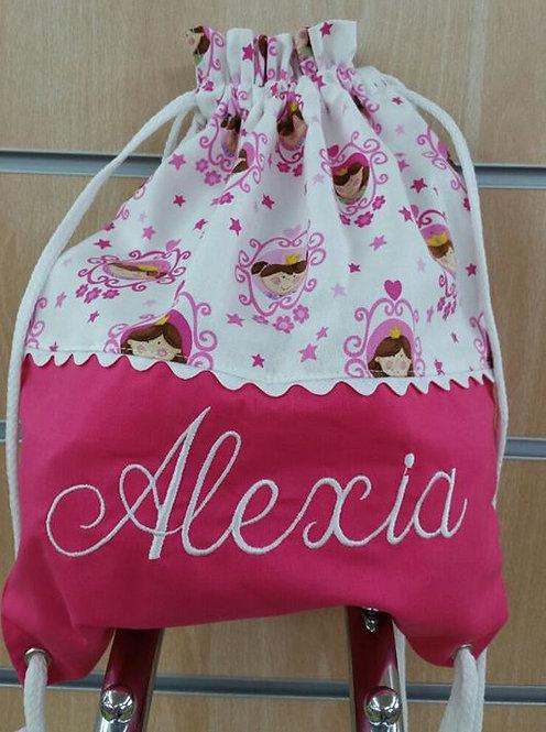 Bolsa para merienda y paseo infantil personalizada-MODELO ALEXIA