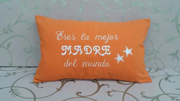 Cojín hecho a mano personalizado para el día de la madre- MODELO LA MEJOR MADRE