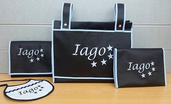 Bolsa panera carrito+Cambiador+Portatoallitas-pañales + Babero-IAGO