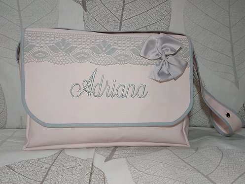 Bolso cochecito bebé con solapa personalizado-MODELO ADRIANA