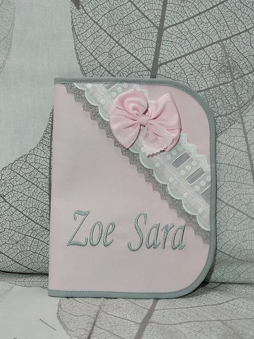 Portadocumentos personalizado bebé- MODELO ZOE