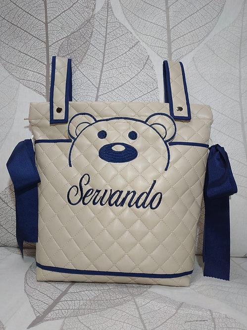 Bolso carrito bebé bordado y personalizado-MODELO OSO BORDADO