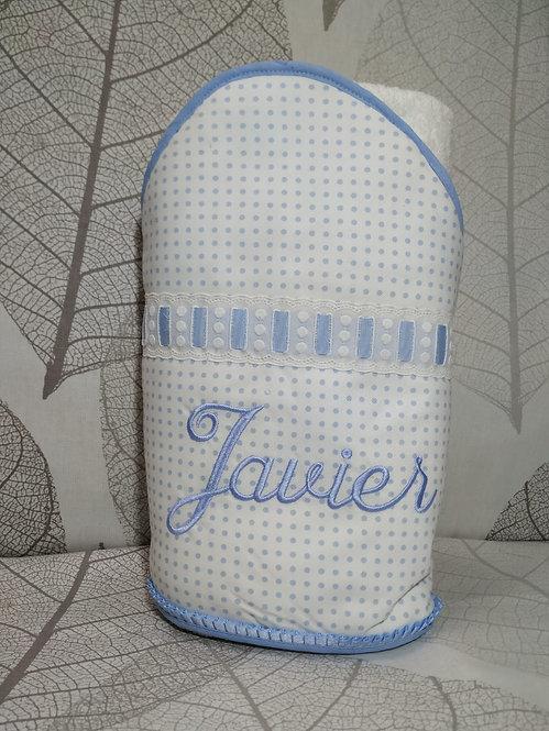 Capa de baño para bebé bordada y personalizada-MODELO JAVIER