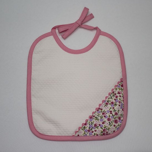 Babero para bebé bordado hecho a mano-TELA ESTAMPADA