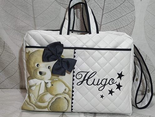 Bolso hospital y carrito bebé personalizado-MODELO HUGO BLANCO