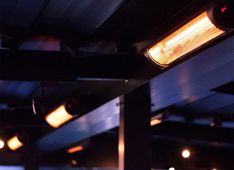 Calentadores de exterior infrarrojos